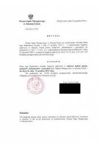 Biegły Sądowy zzakresu badań pisma ręcznego, podpisów, dokumentów ipieczątek przy Sądzie Okręgowym Jelenia Góra