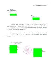 Ustanowiony nakolejną kadencję wSądzie Okregowym wKaliszu