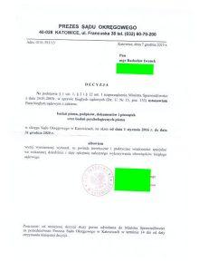 Przedłużenie kadencji funkcji biegłego sądowego zdecyzji Prezesa Sądu Okręgowego wKatowicach