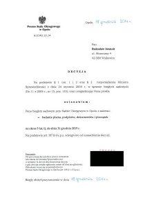 Biegły Sądowy zzakresu badań pisma ręcznego, podpisów, dokumentów ipieczątek przy Sądzie Okręgowym Opole
