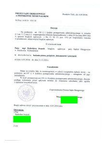 Ustanowiony Biegłym Sądowym wdziedzinie badania pisma, podpisów, dokumentów ipieczątek przy Sądzie Okręgowym wPiotrkowie Trybunalskim